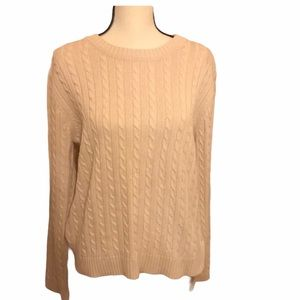Croft & Barrow Sweater Cable knit Large
